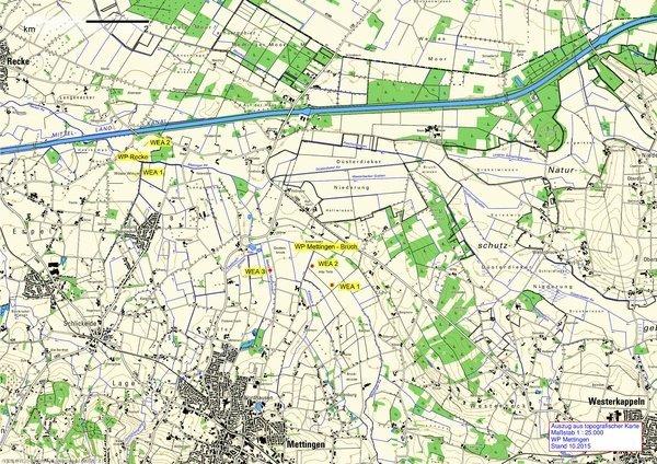 Karte Windgebiet Mettingen
